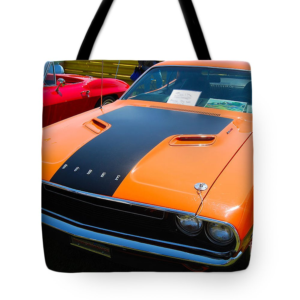 American Muscle Car Tote Bag featuring the photograph Challenger Rt by Mark Spearman