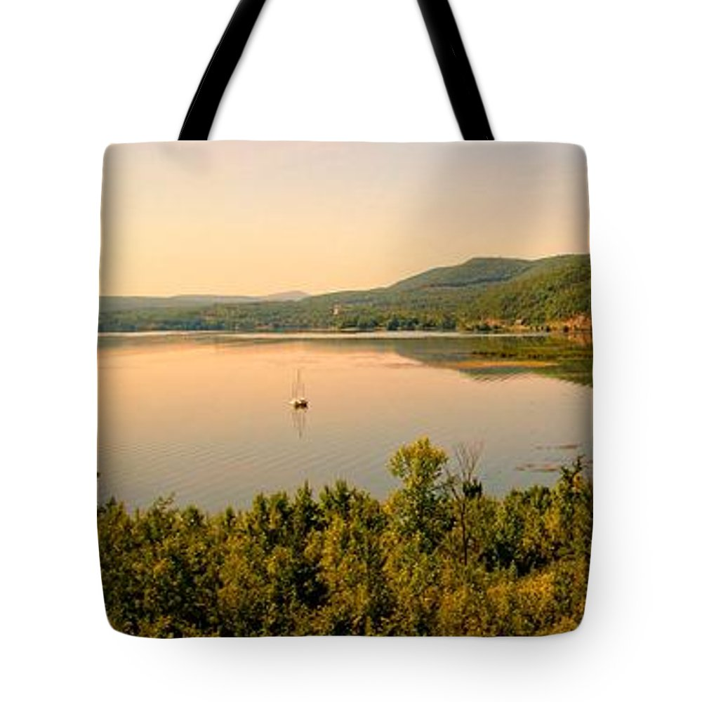 Lake Champlain Tote Bag featuring the photograph Champlain Viewed From Ticonderoga by Robert McCulloch