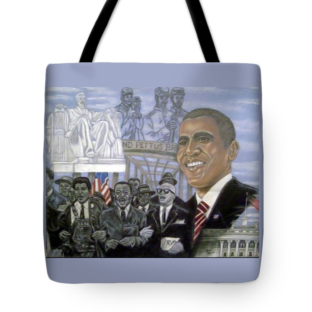 African American Art Tote Bag featuring the painting Changers by Arron Kirkwood