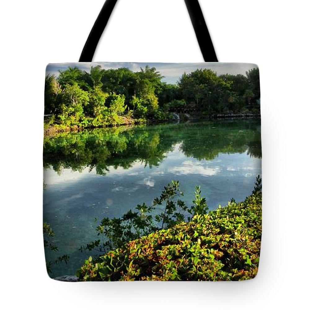 Chankanaab Tote Bag featuring the photograph Chankanaab Mexico Lagoon by Adam Jewell