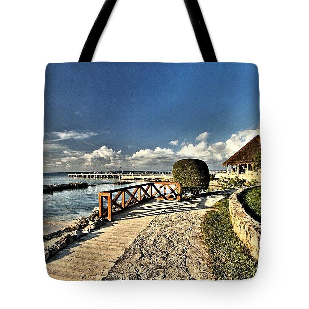 Chankanaab Tote Bag featuring the photograph Chankanaab Walkway by Adam Jewell