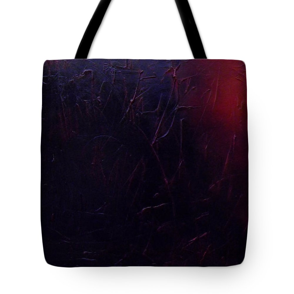 Abstract Tote Bag featuring the painting Chaos by Sergey Bezhinets