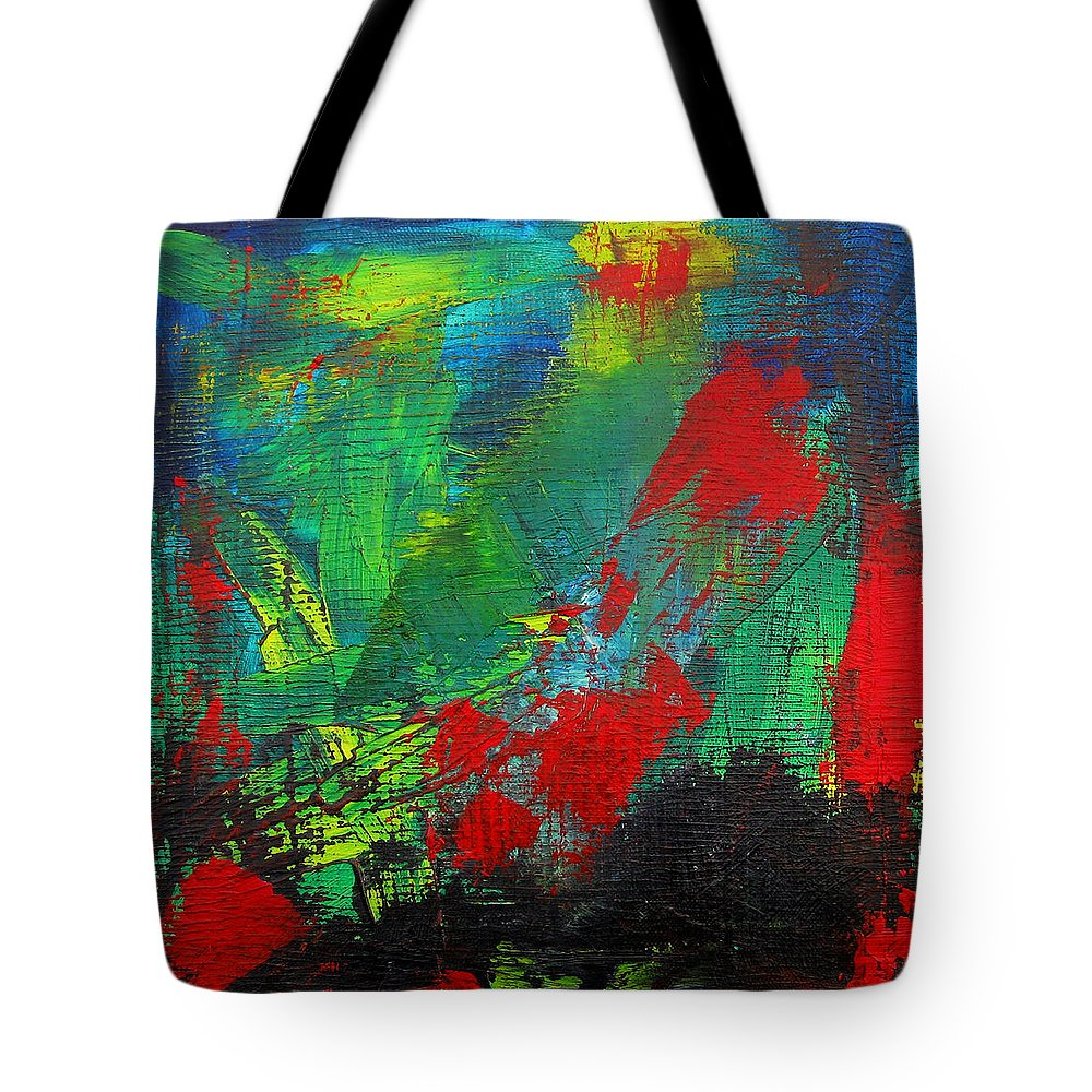 Art Tote Bag featuring the painting Chaotic Hope by Patricia Awapara