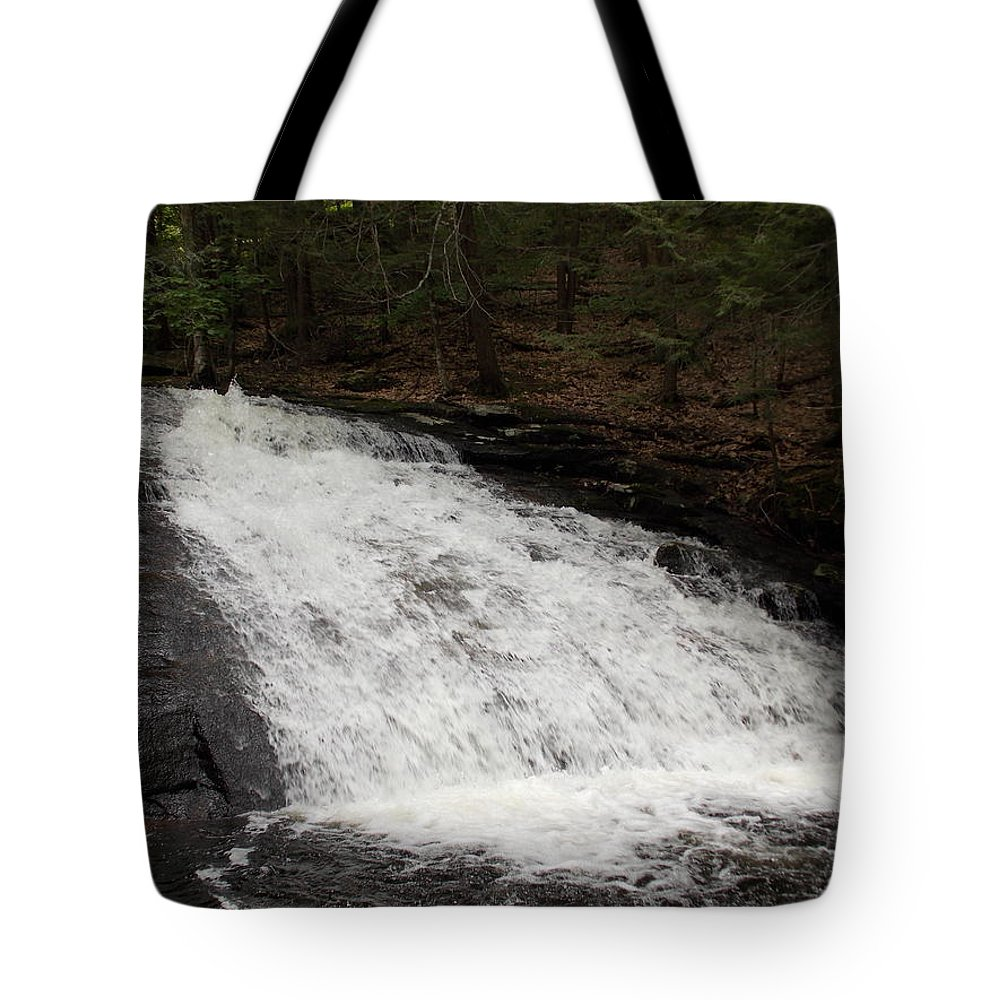 Chapel Falls Tote Bag featuring the photograph Chapel Falls Slide by Catherine Gagne