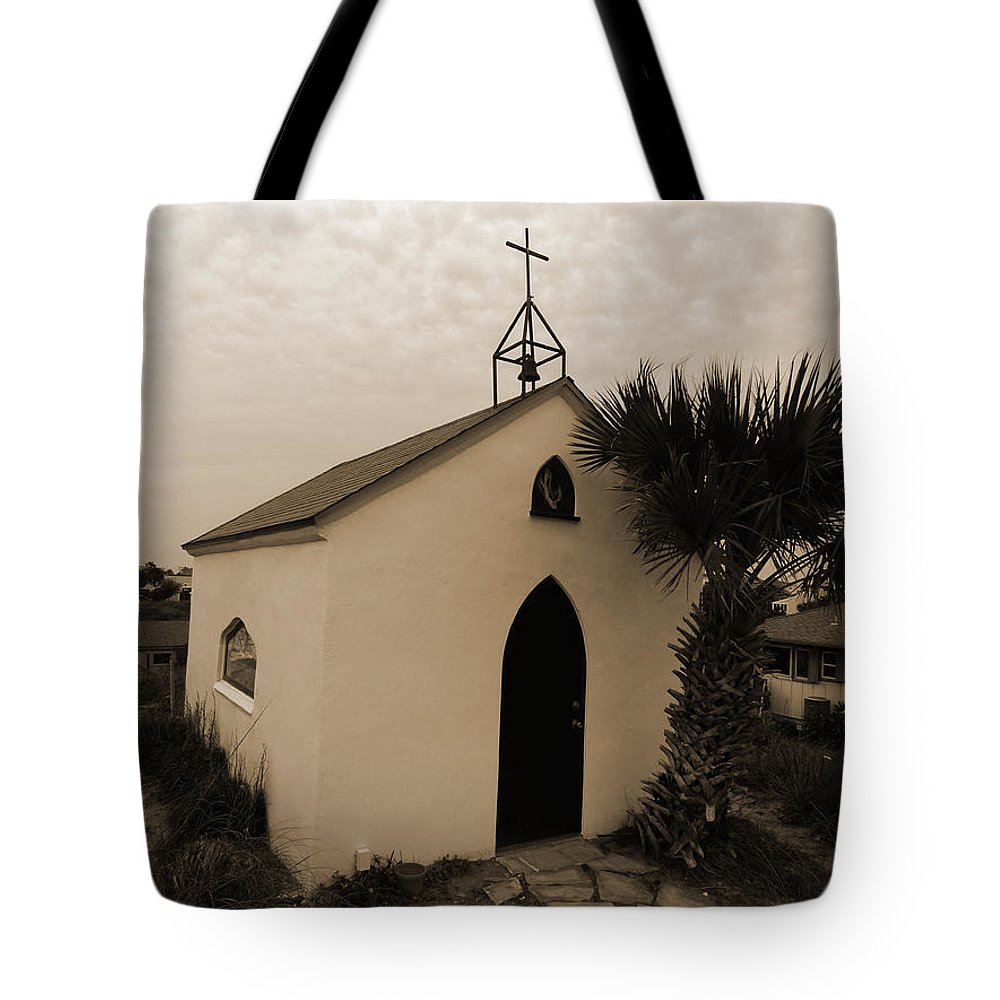 Chapel Tote Bag featuring the photograph Chapel Mood by Anissia Hedrick