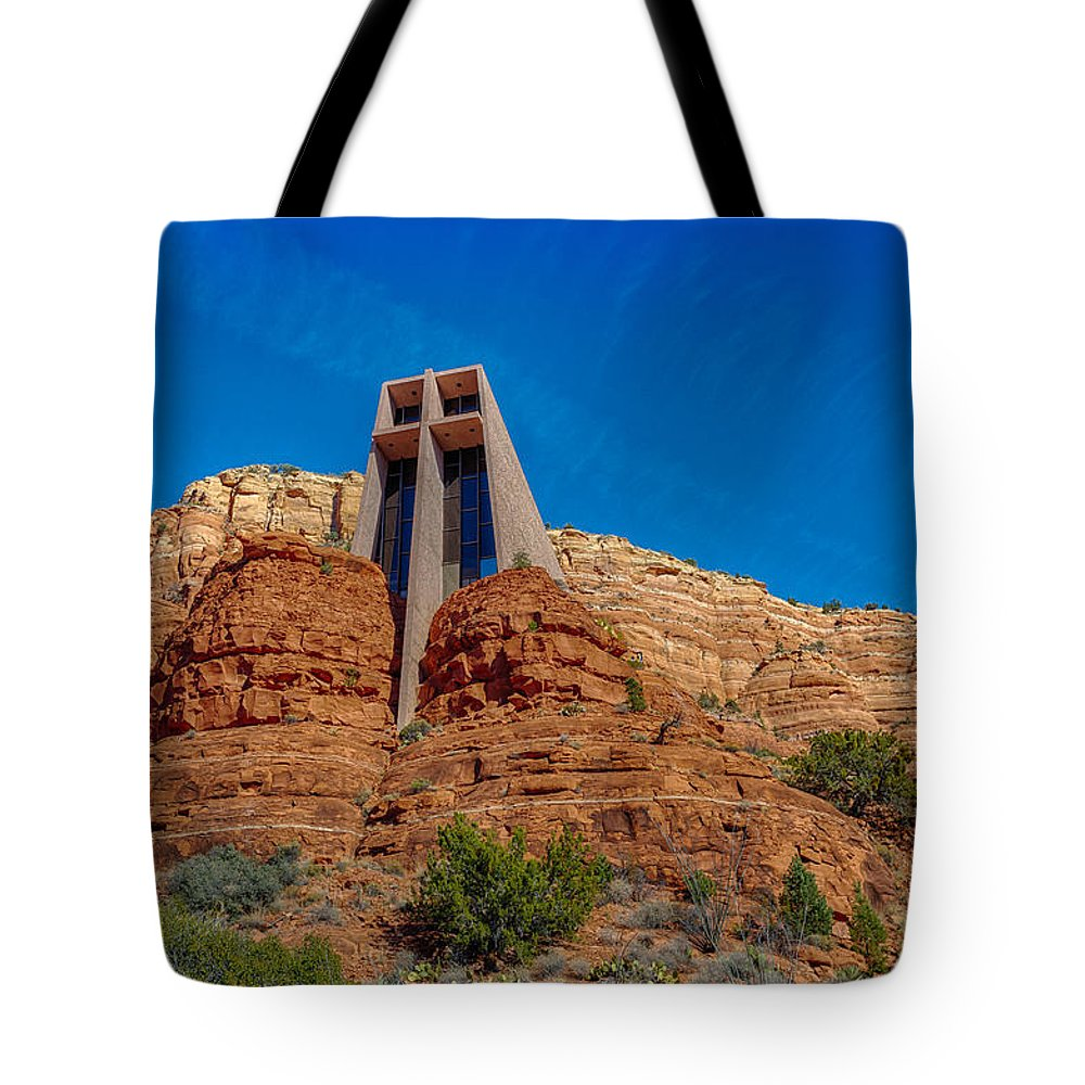 Cross Tote Bag featuring the photograph Chapel Of The Holy Cross Sedona Az Front by Scott Campbell