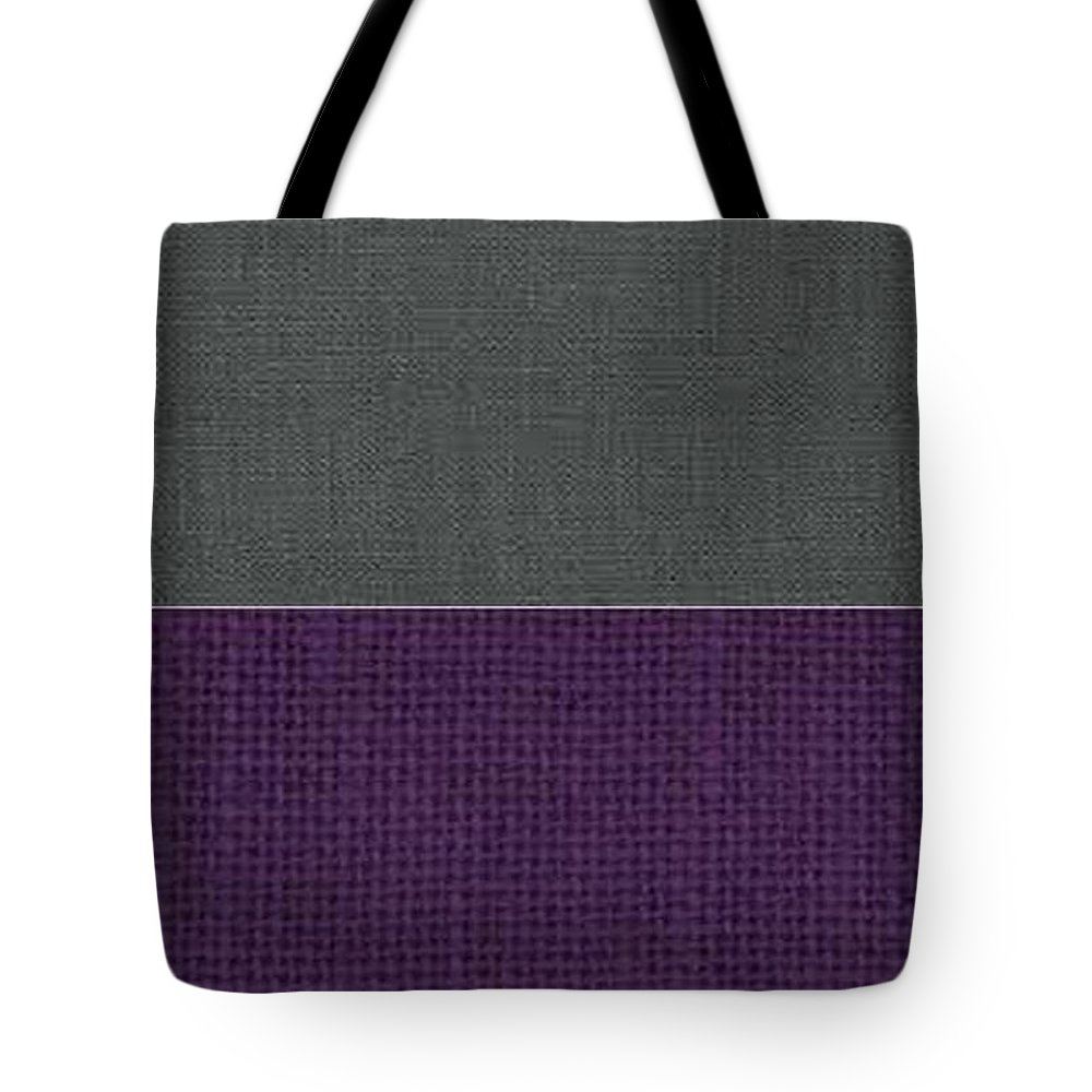 Corduroy Tote Bag featuring the tapestry - textile Charcoal With Purple by Margaret Ivory