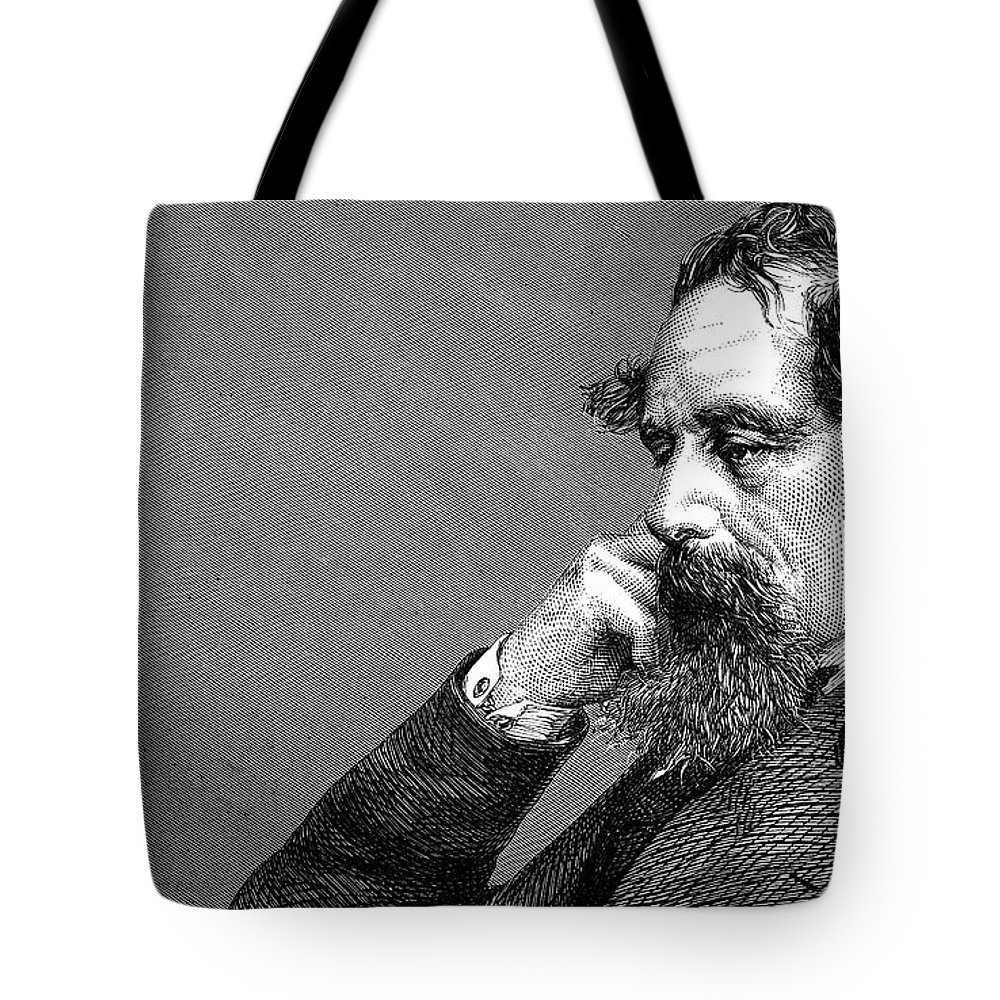 Dickens Tote Bag featuring the photograph Charles Dickens by Daniel Hagerman
