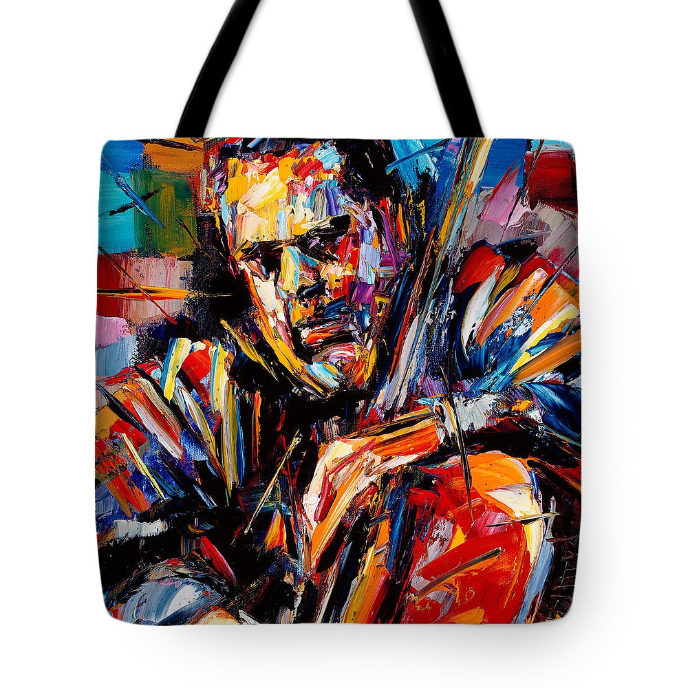 Jazz Art Tote Bag featuring the painting Charles Mingus by Debra Hurd