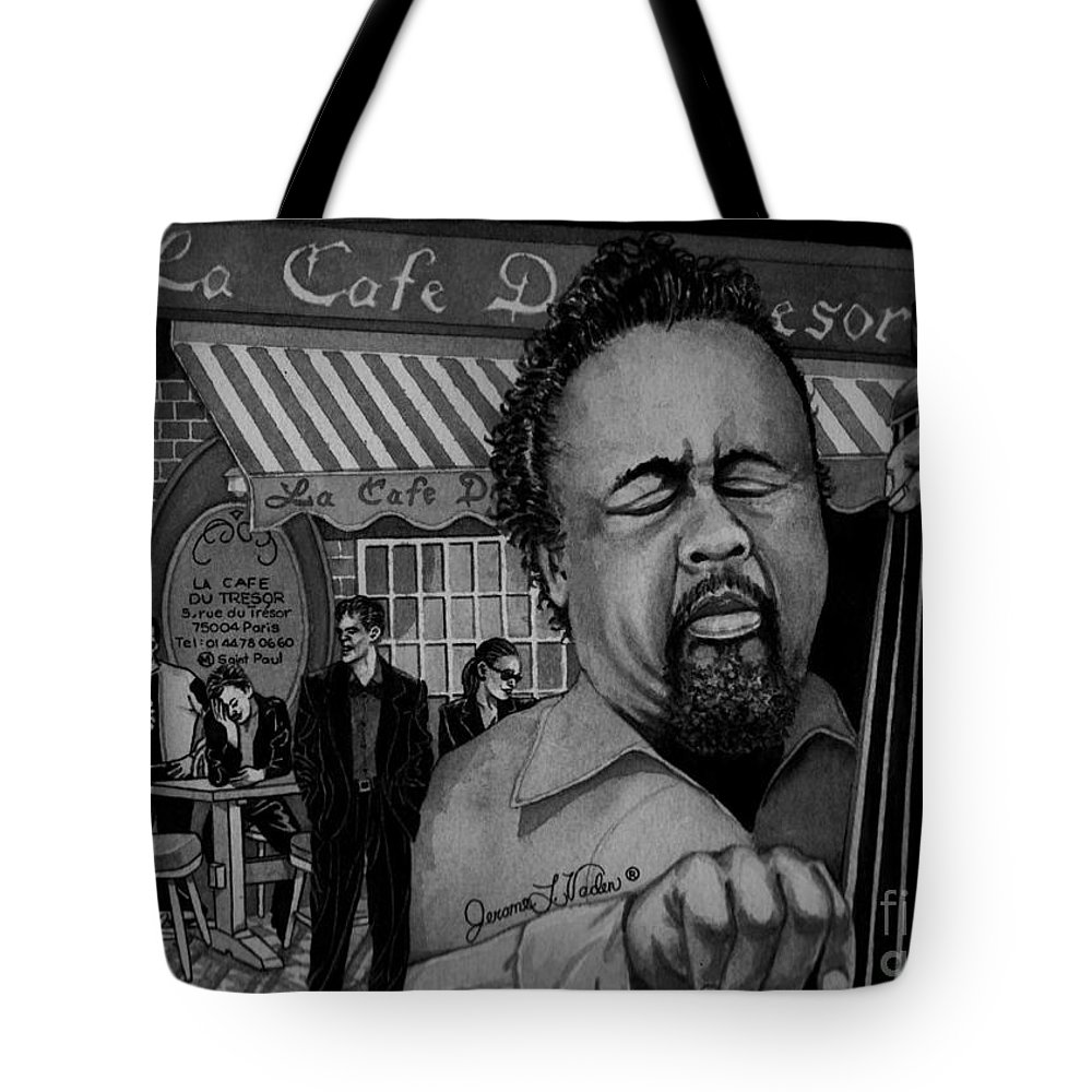 Jazz Tote Bag featuring the painting Jazz Charles Mingus Jr by JL Vaden