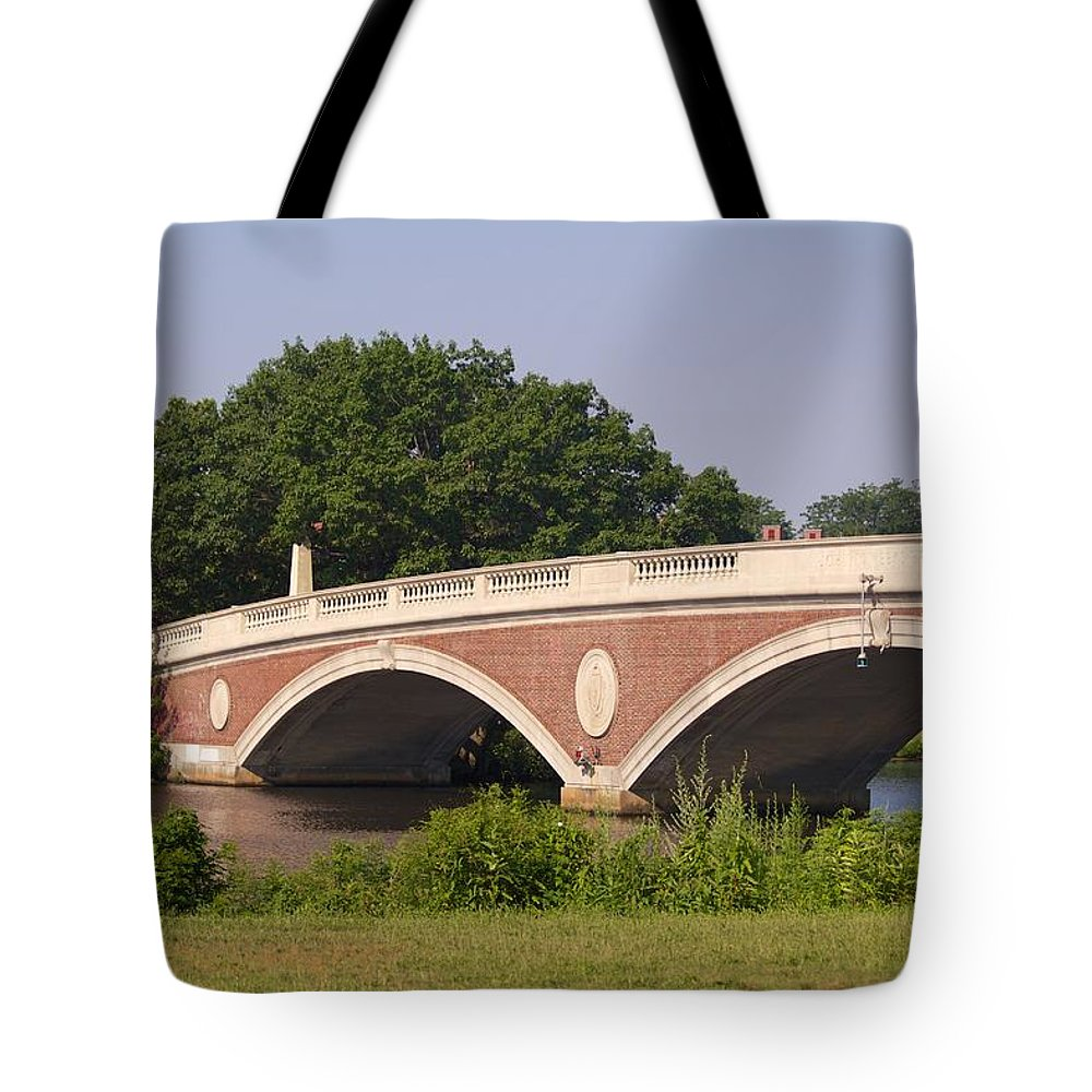 Charles River Tote Bag featuring the photograph Charles River by Allan Morrison