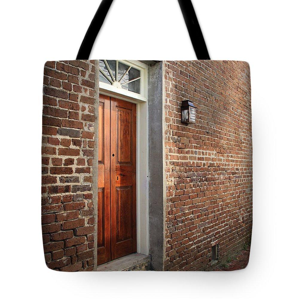 Door Tote Bag featuring the photograph Charleston Door by Paul Moore