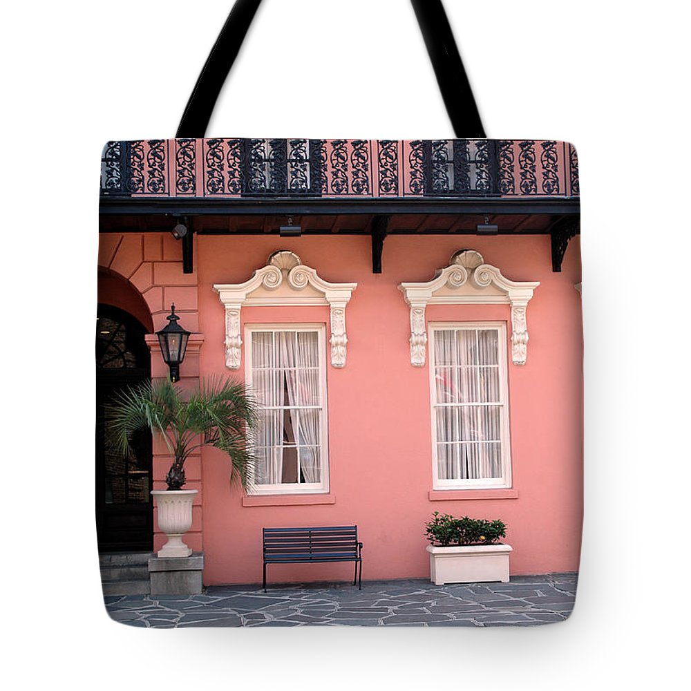 Charleston Tote Bag featuring the photograph Charleston South Carolina - The Mills House - Art Deco Architecture by Kathy Fornal