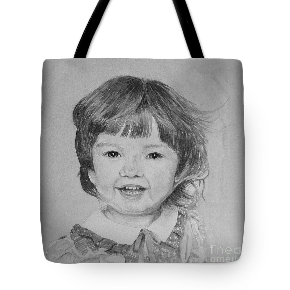 Charlotte Tote Bag featuring the painting Charlotte B/w by Martin Howard