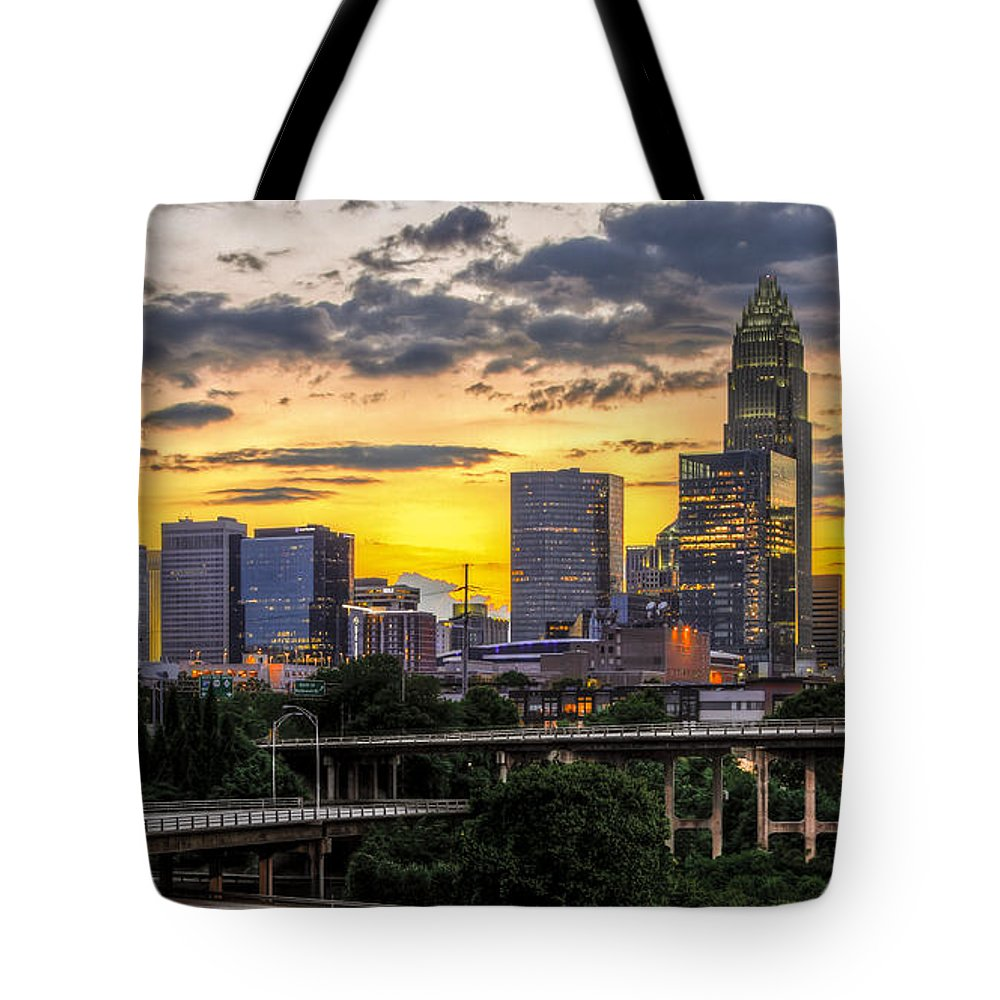 Charlotte Tote Bag featuring the photograph Charlotte Dusk by Chris Austin
