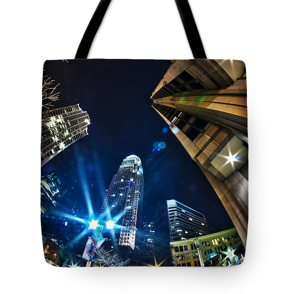 1st Tote Bag featuring the photograph Charlotte Nc Usa - Nightlife Around Charlotte by Alex Grichenko