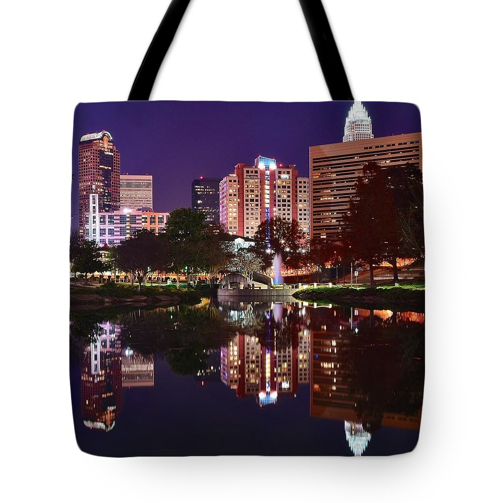 Charlotte Tote Bag featuring the photograph Charlotte Reflecting by Frozen in Time Fine Art Photography