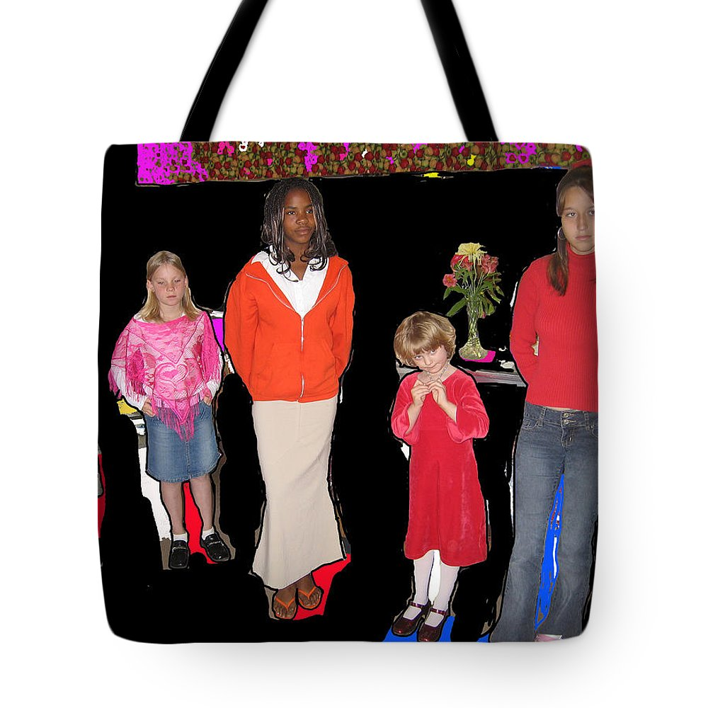 Charm Class Toltec Tavern Toltec Arizona 2005 Color Drawing Added Tote Bag featuring the photograph Charm Class Toltec Tavern Toltec Arizona 2005-2012 by David Lee Guss