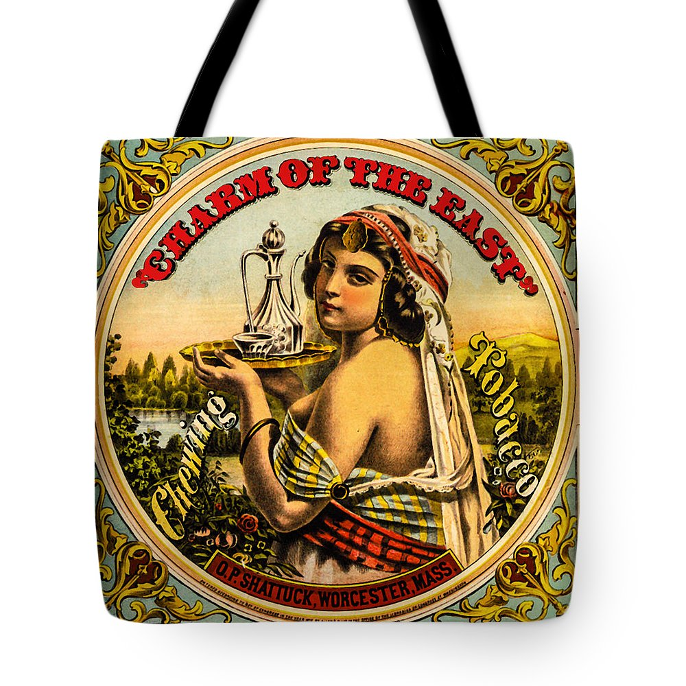 Tobacco Tote Bag featuring the photograph Charm Of The East by Diana Powell