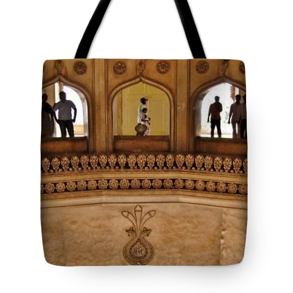 Tote Bag featuring the photograph Charminar - Inside by David Pantuso