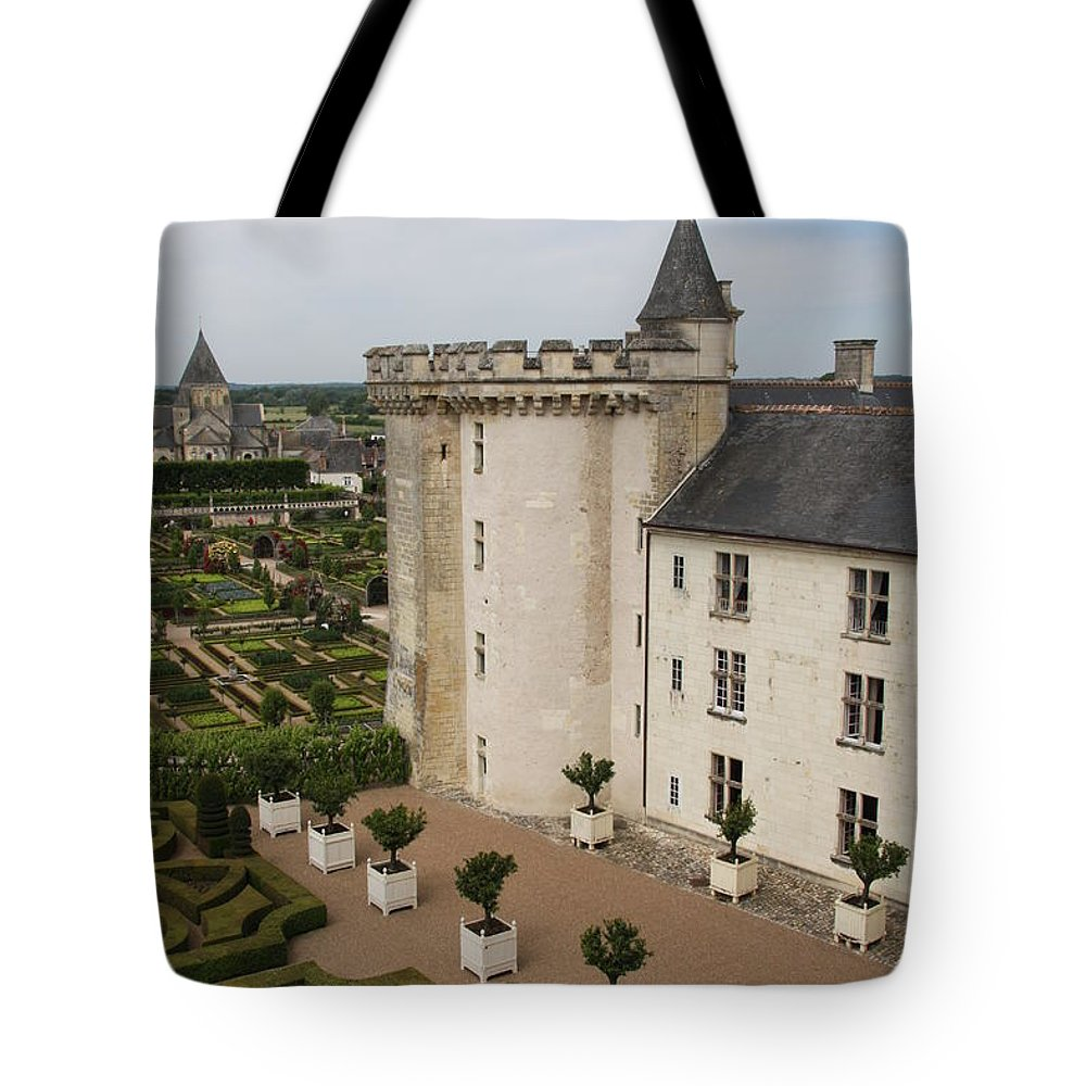 Palace Tote Bag featuring the photograph Chateau And Garden - Villandry by Christiane Schulze Art And Photography