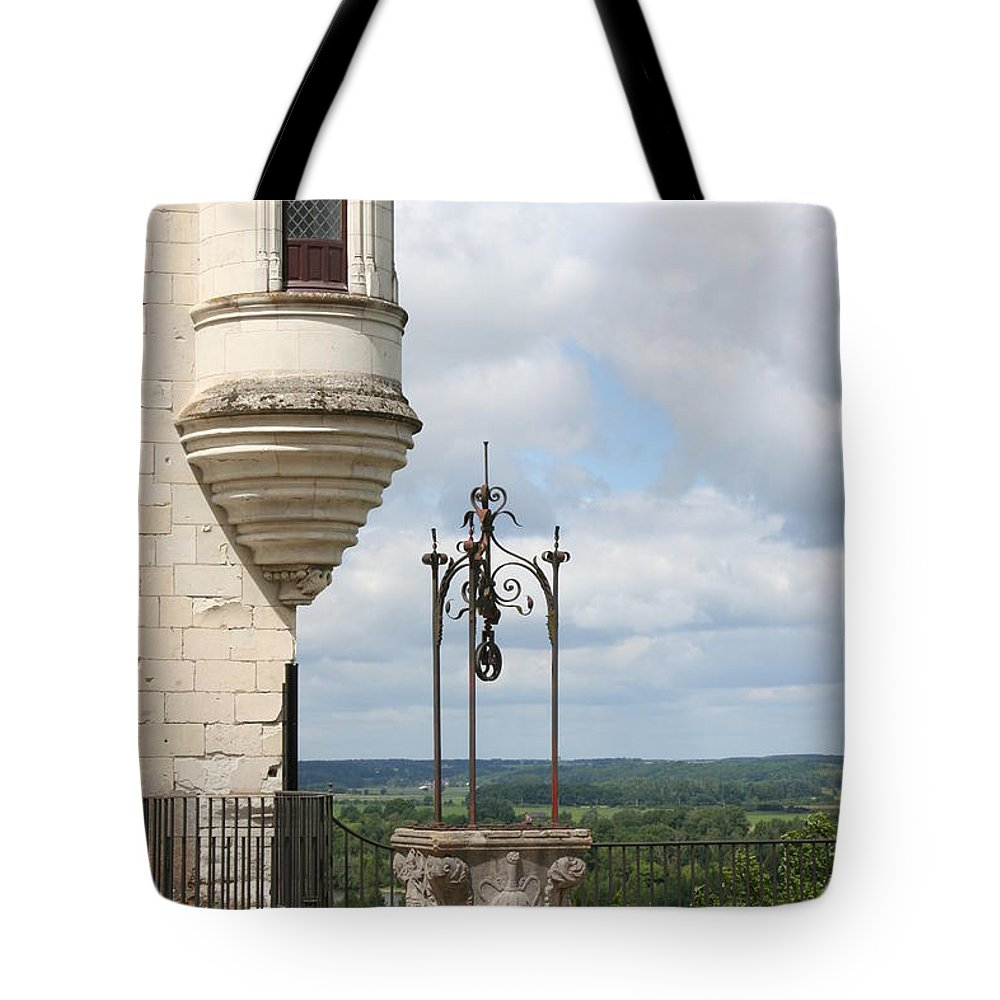 Baywindow Tote Bag featuring the photograph Chateau Baywindow And Well by Christiane Schulze Art And Photography