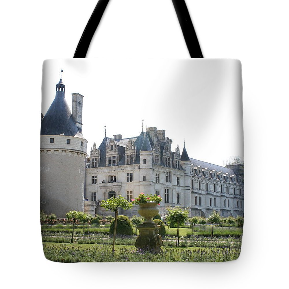 Castle Tote Bag featuring the photograph Chateau Chenonceau And Garden by Christiane Schulze Art And Photography