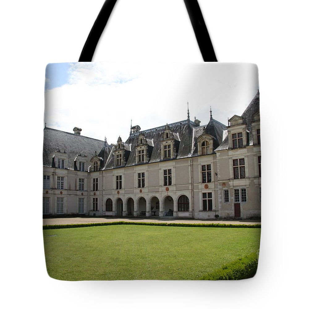 Palace Tote Bag featuring the photograph Chateau De Beauregard Loire Valley by Christiane Schulze Art And Photography