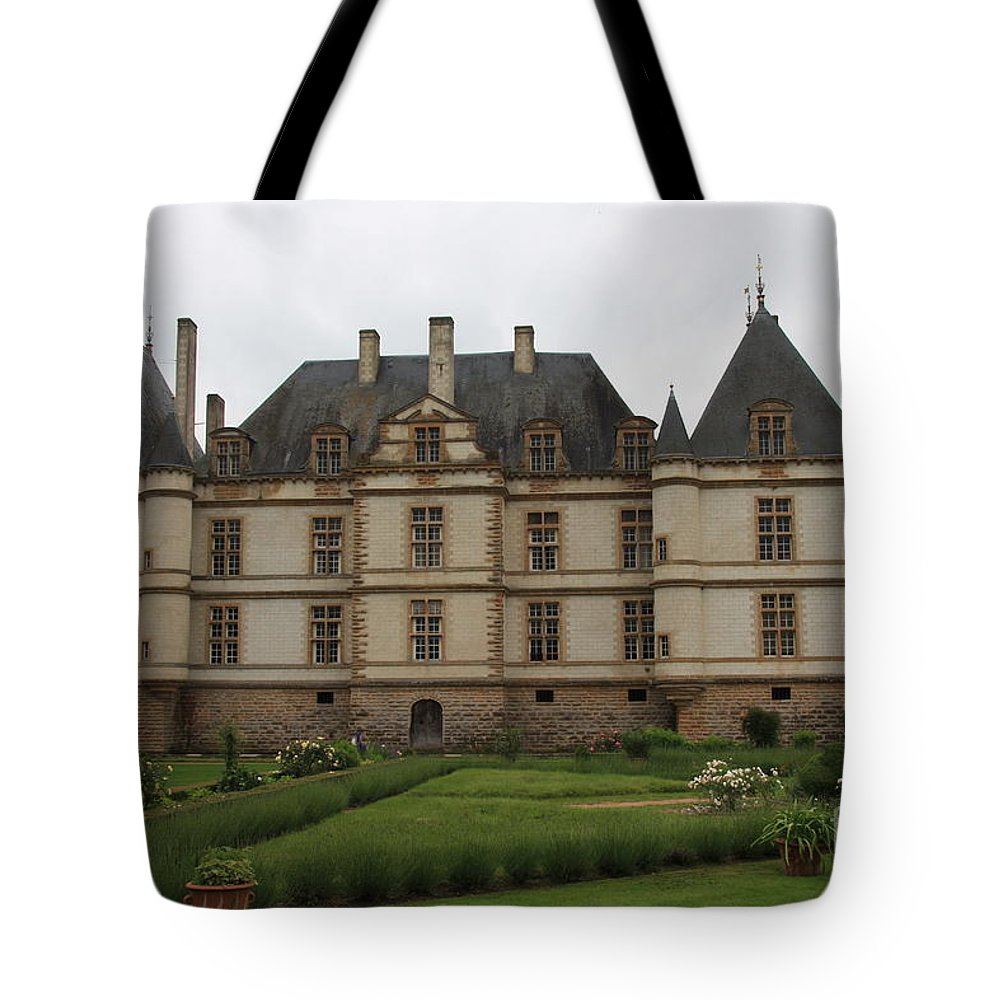 Palace Tote Bag featuring the photograph Chateau De Cormatin And Garden - Burgundy by Christiane Schulze Art And Photography