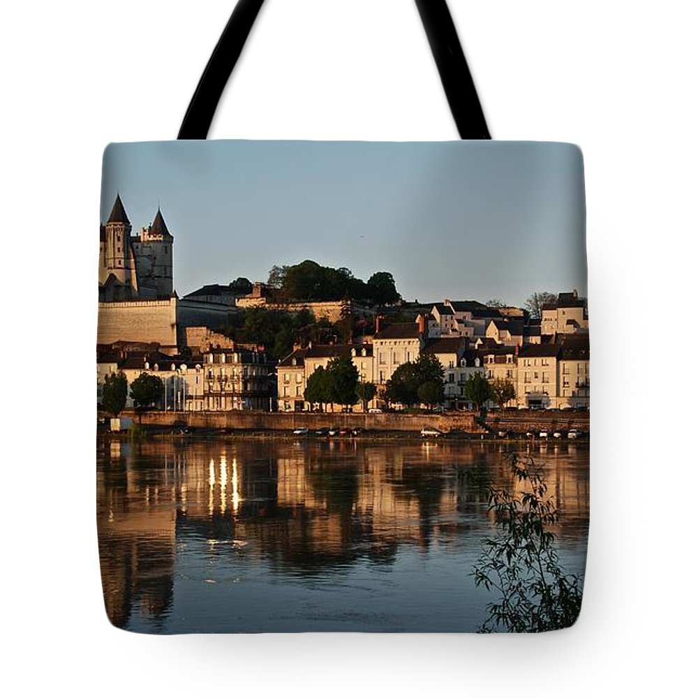 Saumur Tote Bag featuring the photograph Chateau Saumur by Eric Tressler