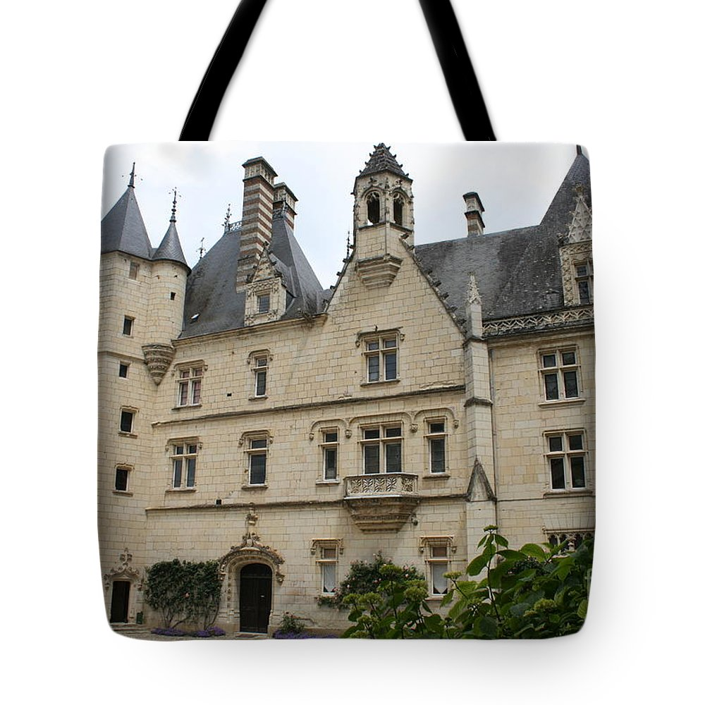 Palace Tote Bag featuring the photograph Chateau Usse by Christiane Schulze Art And Photography