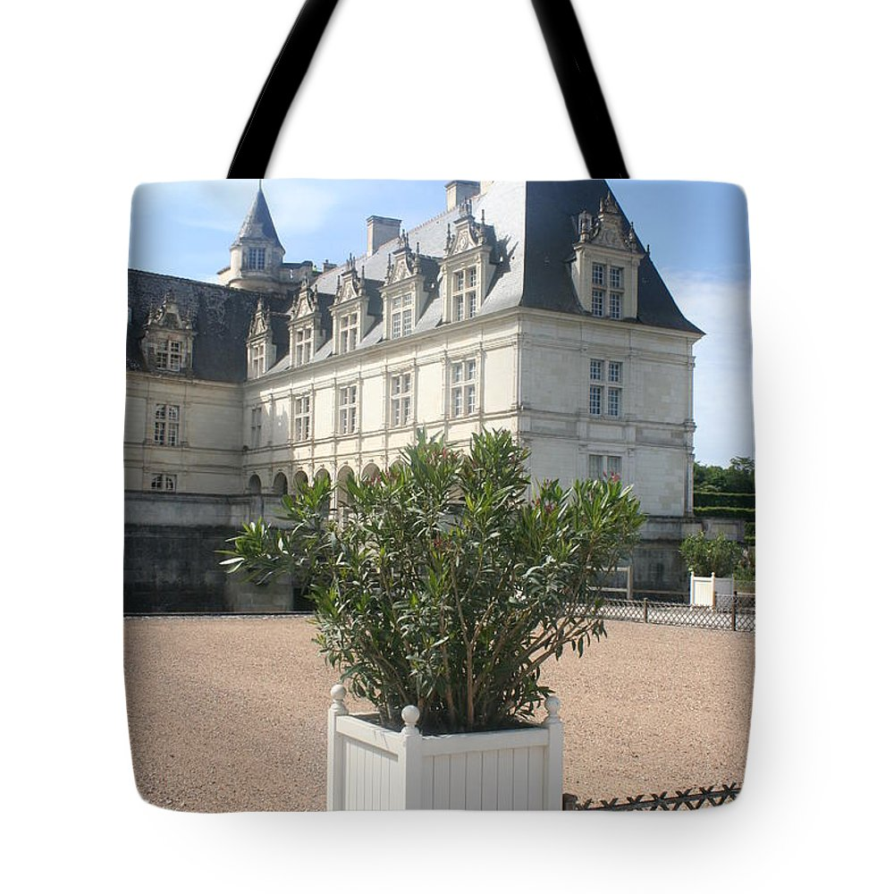 Palace Tote Bag featuring the photograph Chateau Villandry View by Christiane Schulze Art And Photography