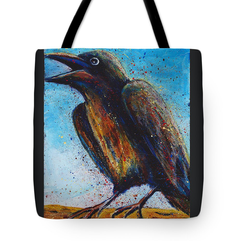 Chatty Tote Bag featuring the painting Chatty Cathy by Cindy Johnston