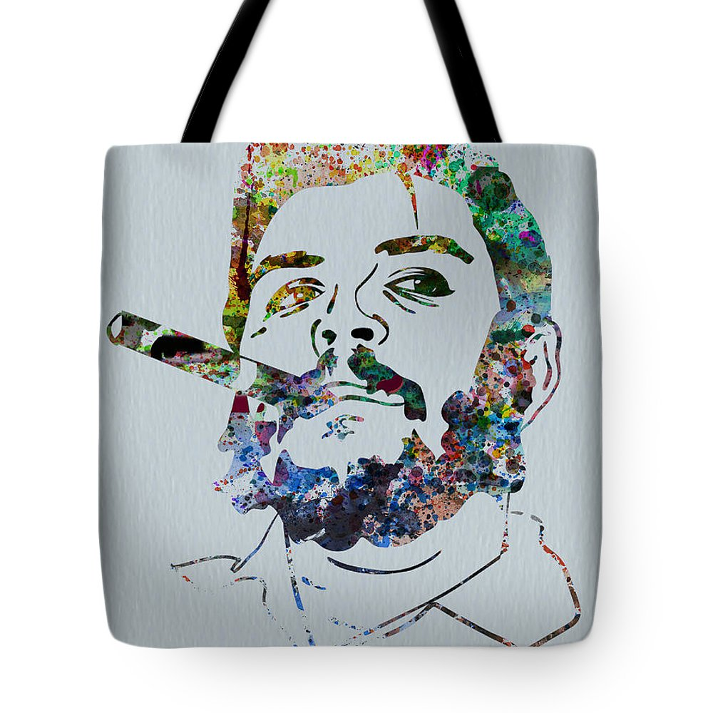 Che Guevara Tote Bag featuring the painting Che Watercolor by Naxart Studio