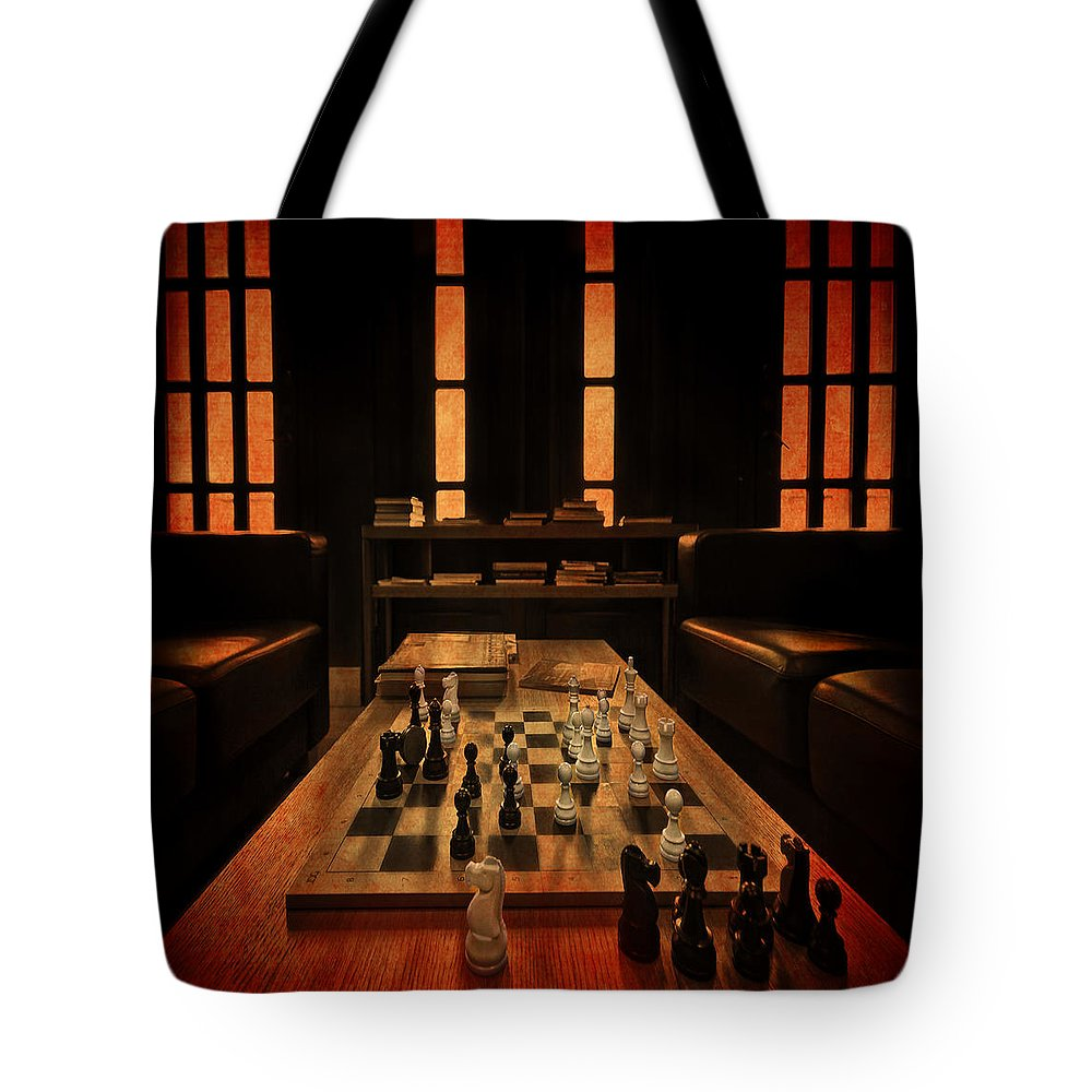 Spassky Tote Bag featuring the photograph Checkmate by Evelina Kremsdorf