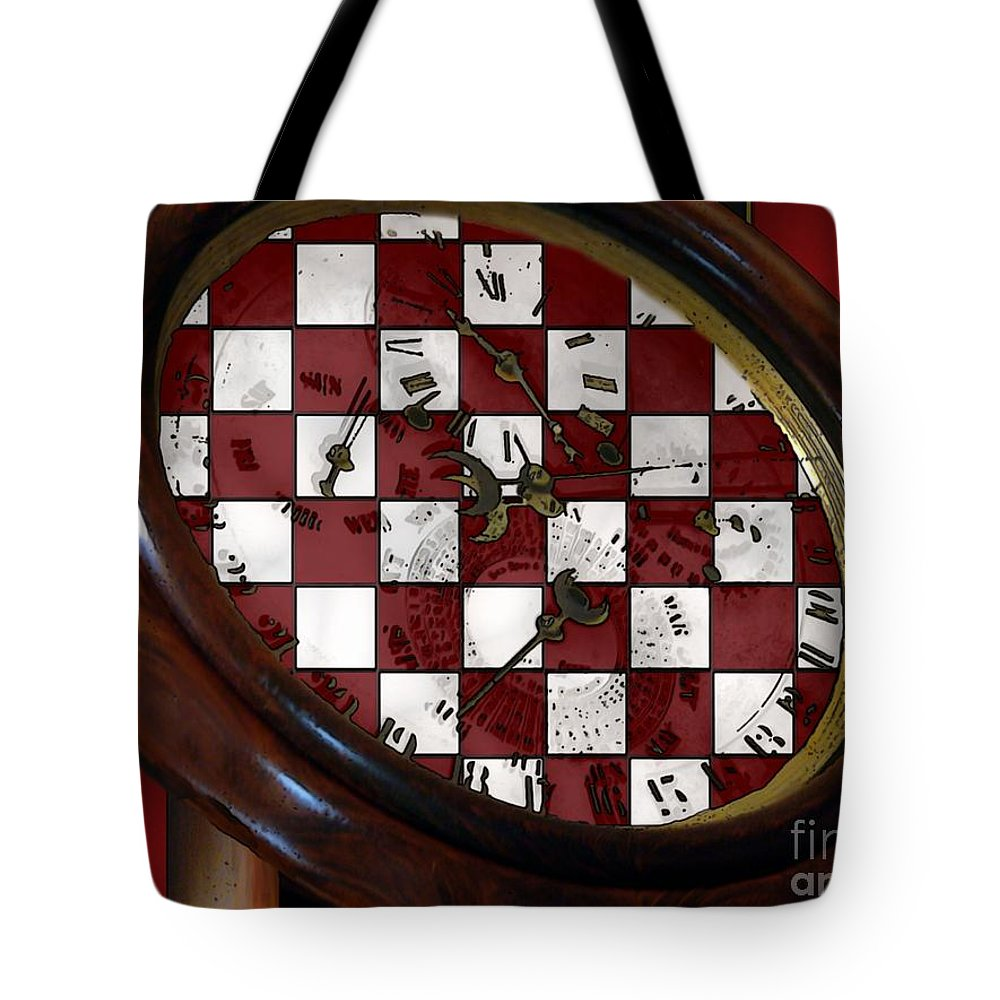 Antique Tote Bag featuring the painting Checkmate by RC DeWinter