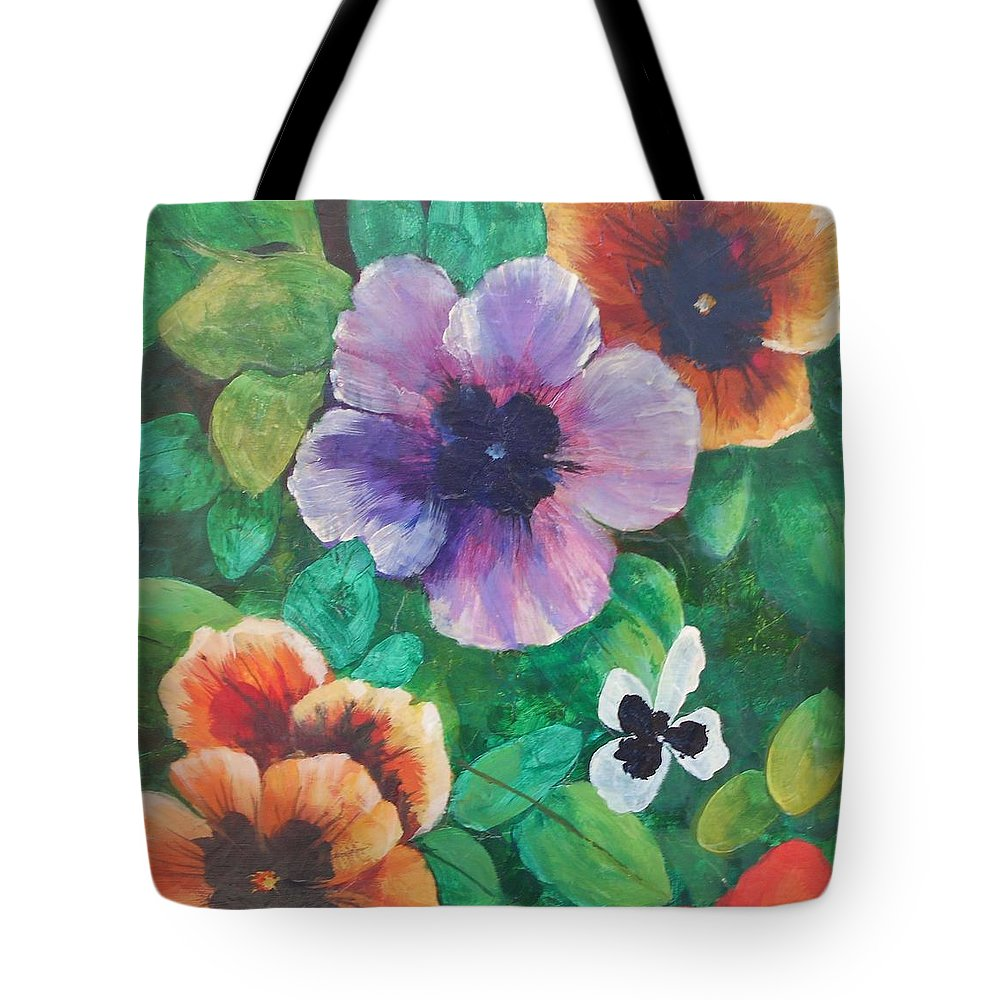 Frederick Skidmore Toccoa Tote Bag featuring the painting Cheerful # 050 by Frederick Skidmore