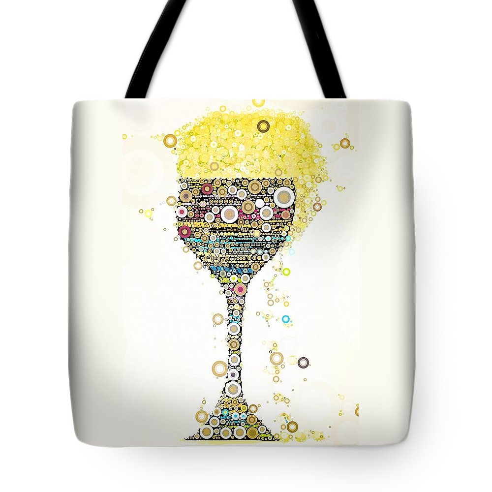 Salute Tote Bag featuring the digital art Cheers by Steven Boland