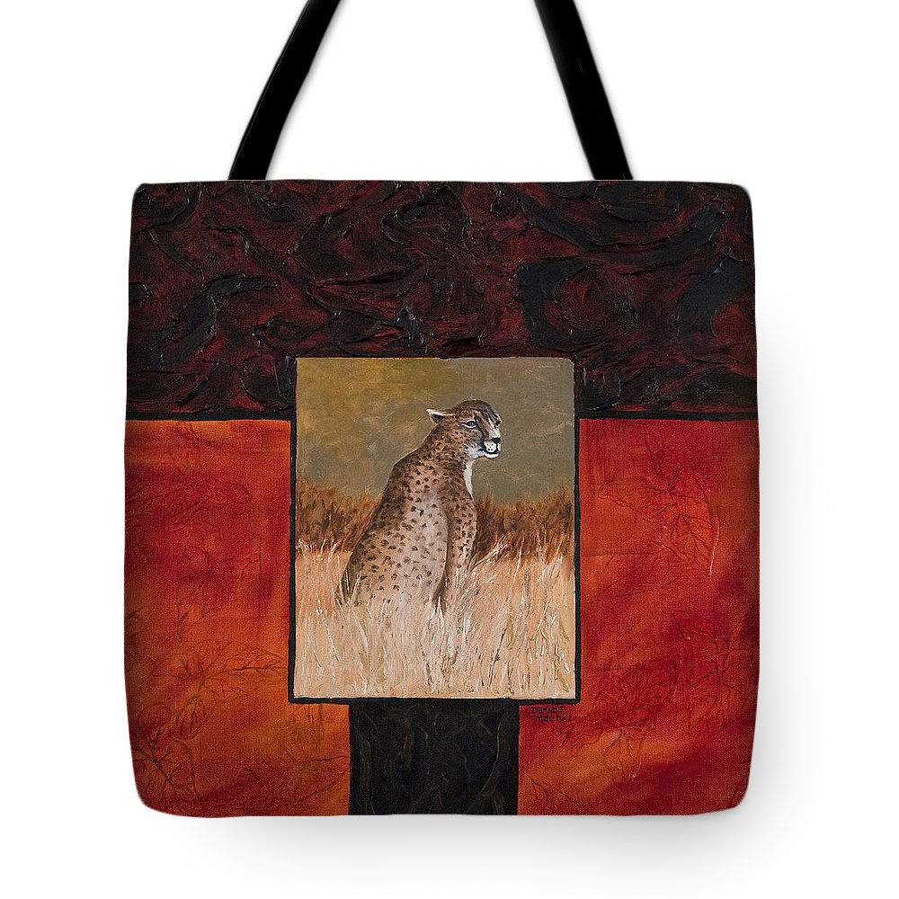 Animal Tote Bag featuring the painting Cheetah by Darice Machel McGuire