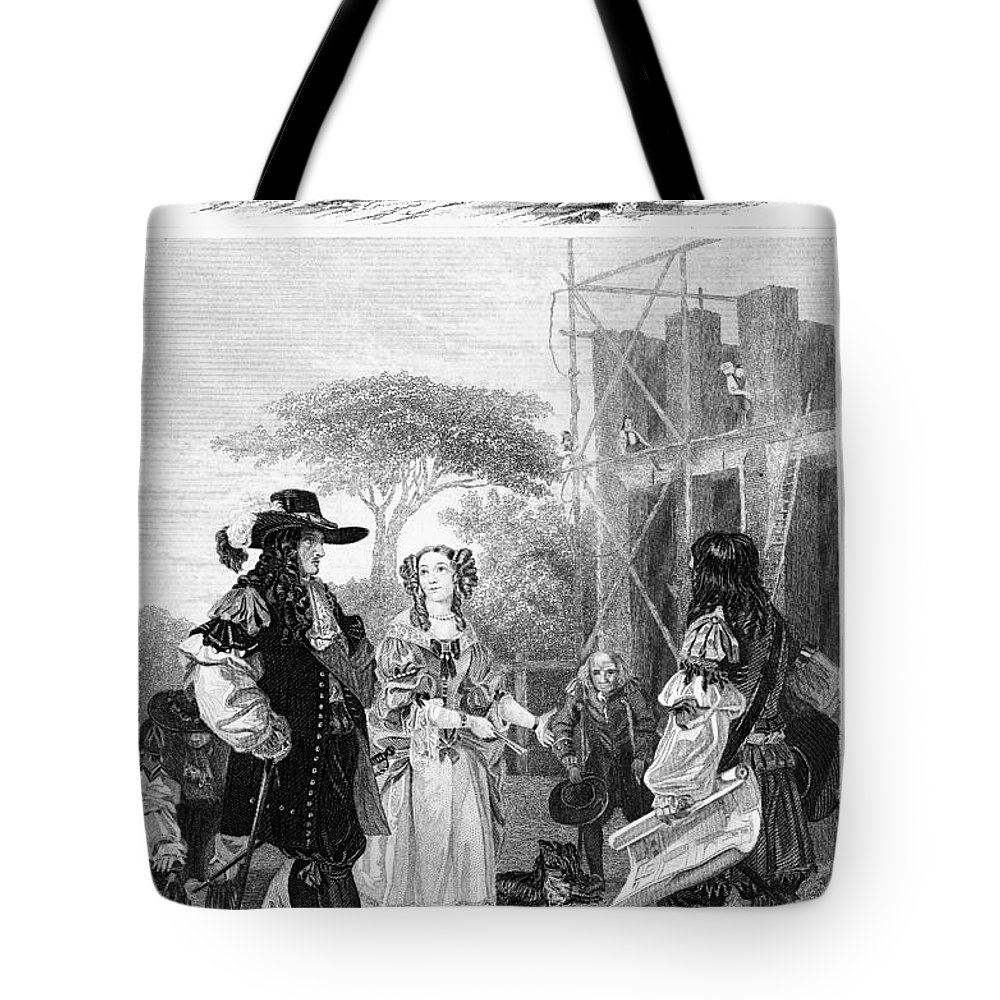 1682 Tote Bag featuring the photograph Chelsea Hospital, 1682 by Granger