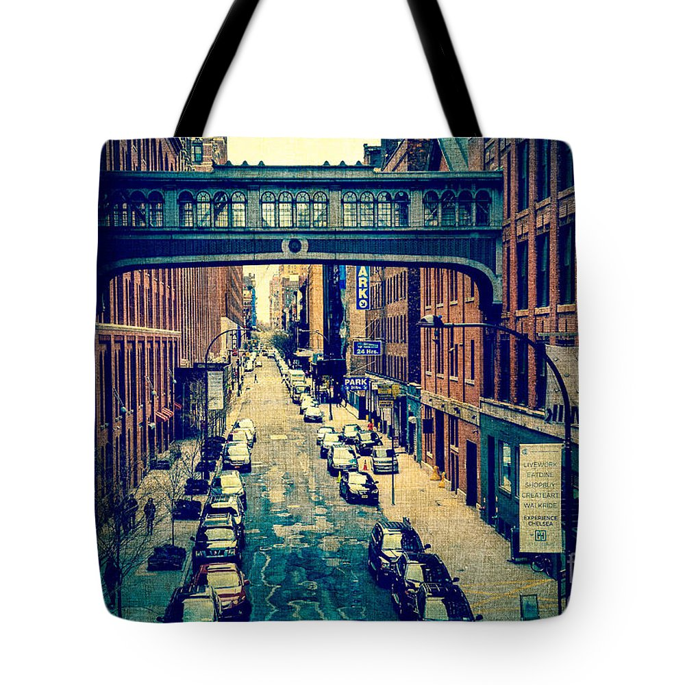 Architecture Tote Bag featuring the photograph Chelsea Street As Seen From The High Line Park. by Amy Cicconi