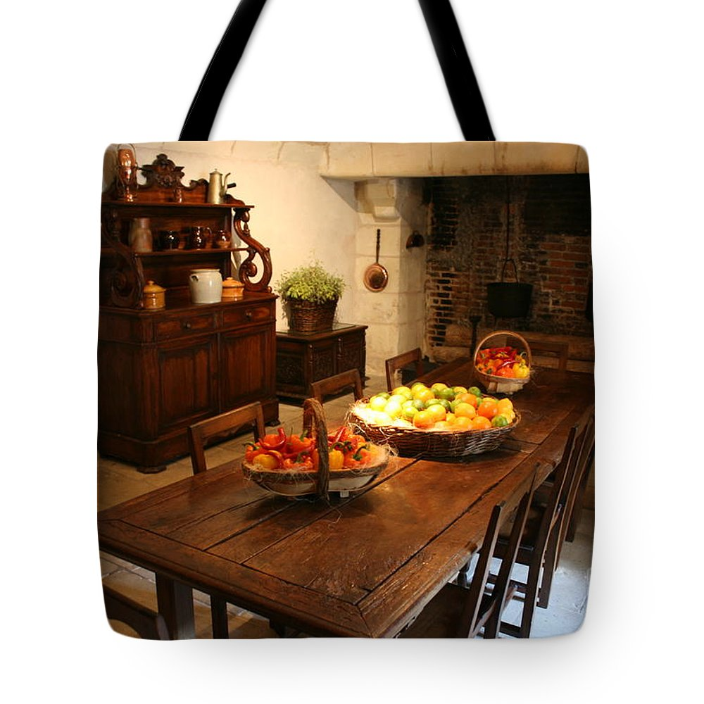 Kitchen Tote Bag featuring the photograph Chenonceau Kitchen by Christiane Schulze Art And Photography