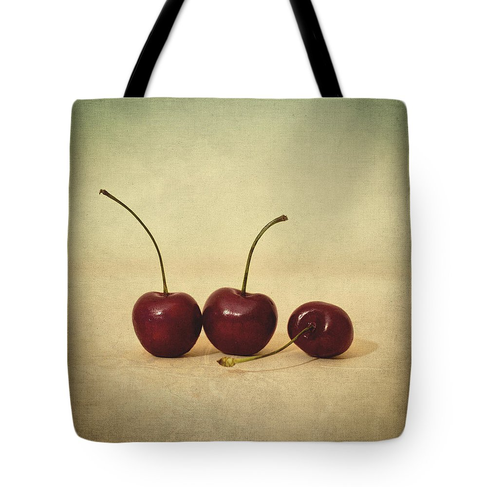 Cherries Tote Bag featuring the photograph Cherries by Zapista