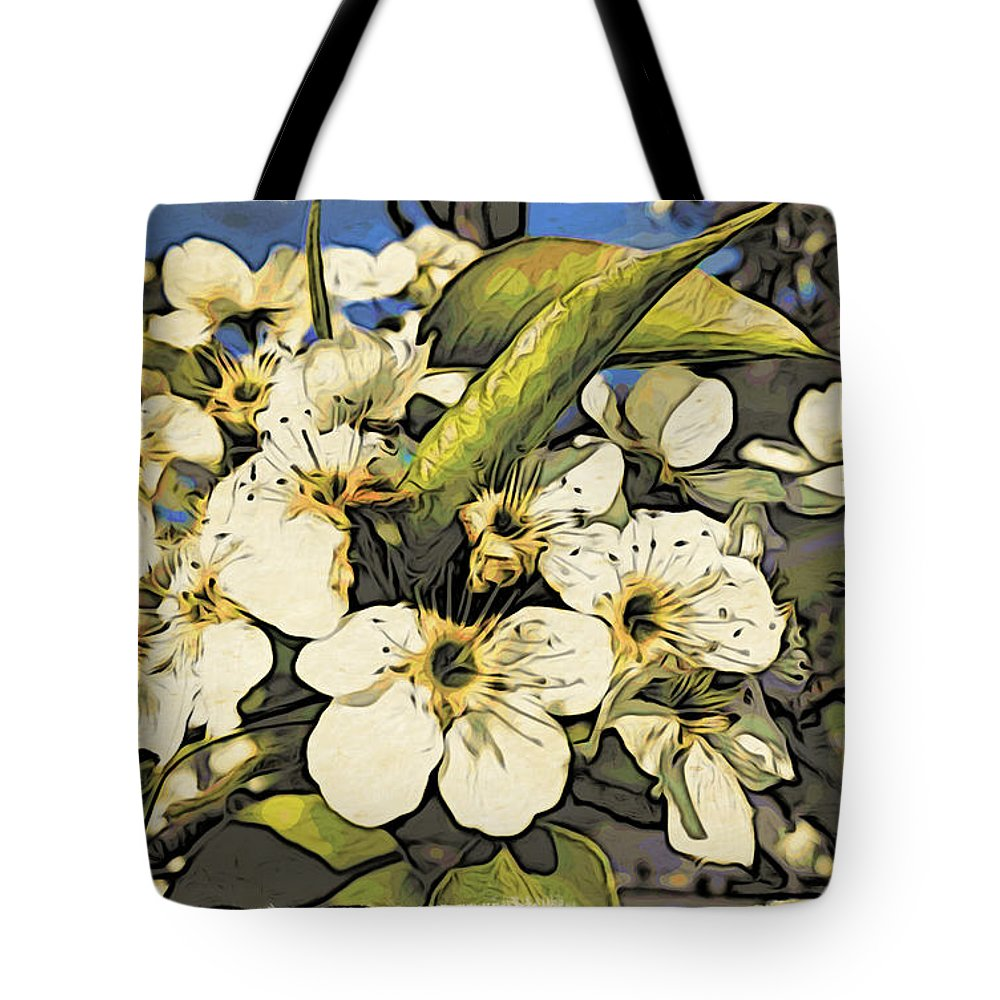 Cherry Blossoms Tote Bag featuring the photograph Cherry Blooms by Alice Gipson