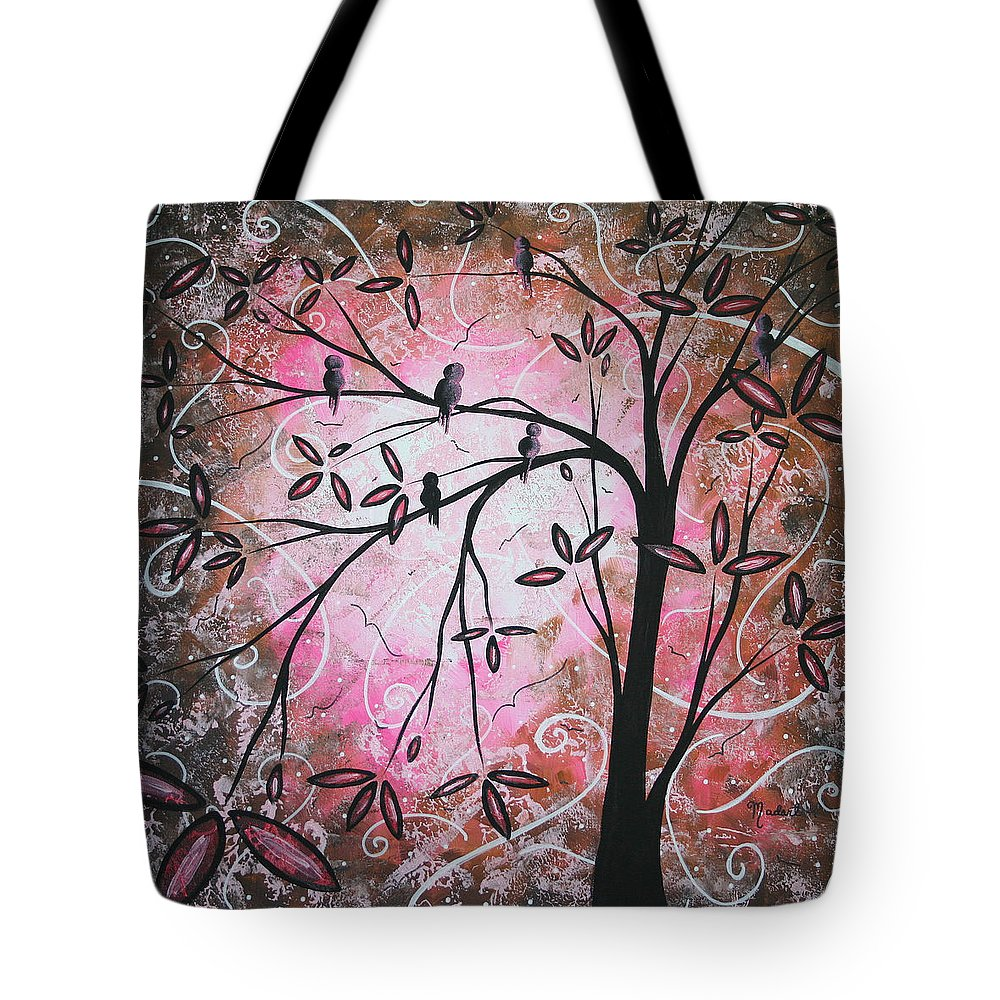 Wall Tote Bag featuring the painting Cherry Blossoms by Megan Duncanson