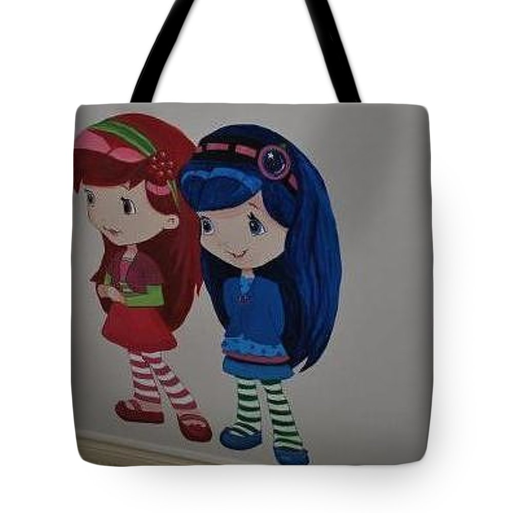 85935780b6 Strawberry Shortcake Characters Tote Bag featuring the painting Cherry Jam  And Blueberry Muffin by Betty-