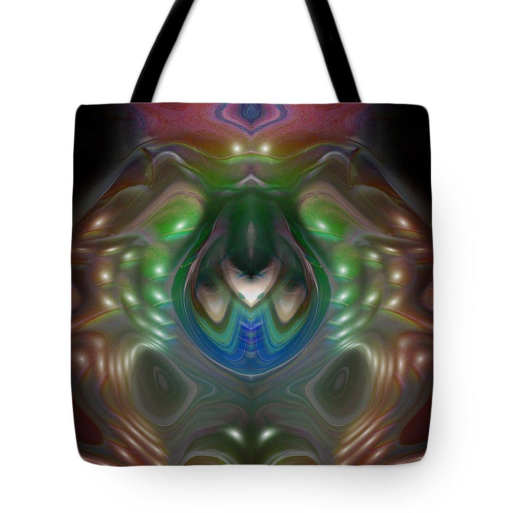digital Art Tote Bag featuring the digital art Cherub 5 by Otto Rapp