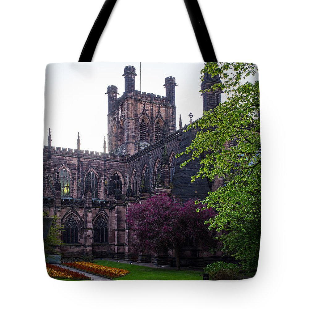 Canvas Tote Bag featuring the photograph Chester Cathedral by Mark Llewellyn