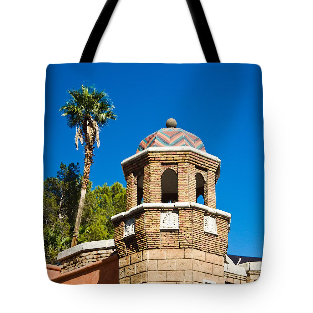 Chevron Tote Bag featuring the photograph Cheveron Domed Tower 1 by Douglas Barnett