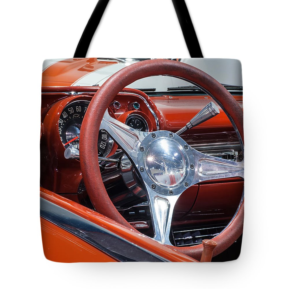 Chevrolet Bel Air Tote Bag featuring the photograph Chevrolet Bel Air by George Buxbaum